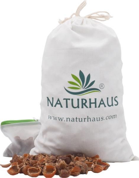 NATURHAUS Bio Waschnuss Schalen im Baumwollsäckchen 1 kg