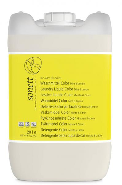 Sonett Waschmittel Color Mint u. Lemon 20 Liter