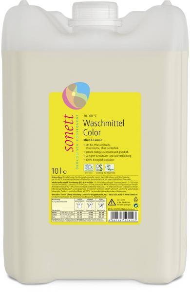 Sonett Waschmittel Color Mint u. Lemon 10 Liter