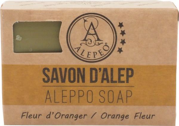 ALEPEO Aleppo Olivenölseife mit Orangenblütenduft 100 g