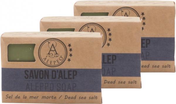 ALEPEO Aleppo Olivenölseife mit Totem Meersalz 100 g 3er Pack