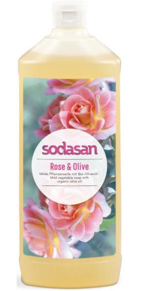 SODASAN Flüssigseife Rose u. Olive 1 Liter