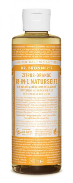 Dr Bronners 18 IN 1 Naturseife Zitrus Orange 240 ml