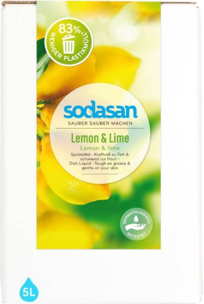 SODASAN Spülmittel Lemon u. Lime 5 Liter