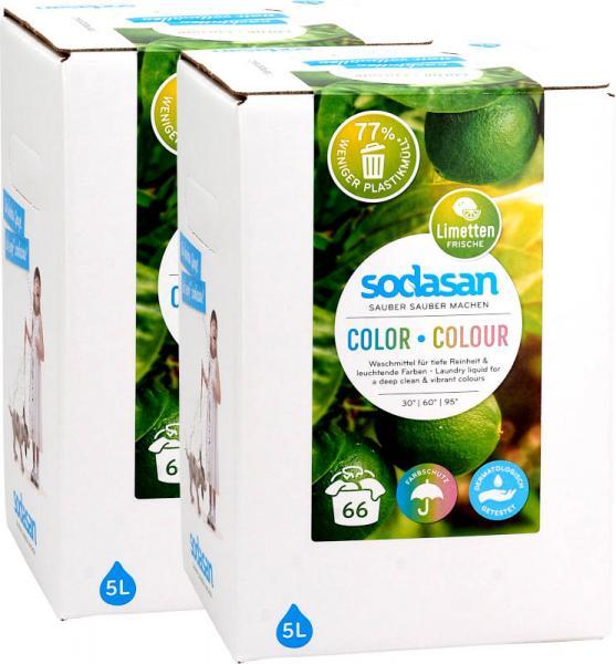 SODASAN Color Waschmittel Limette 2x5 Liter