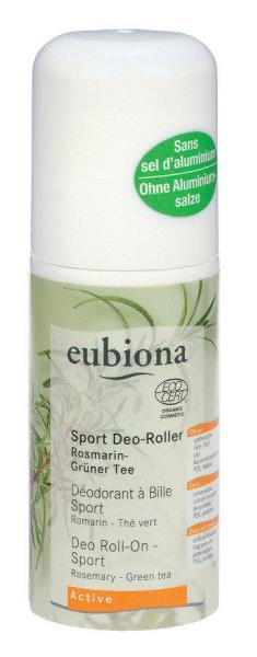 Eubiona Sport Deo-Roller Rosmarin-Grüner Tee 50 ml