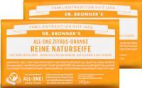 Dr Bronners Zitrus-Orange Reine Naturseife 140 g 2er Pack