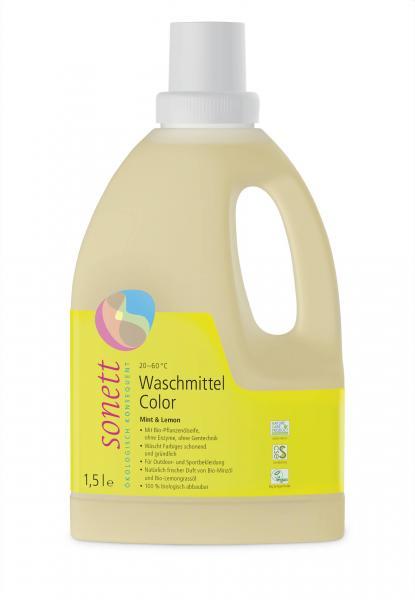 Sonett Waschmittel Color Mint u. Lemon 1.5 Liter
