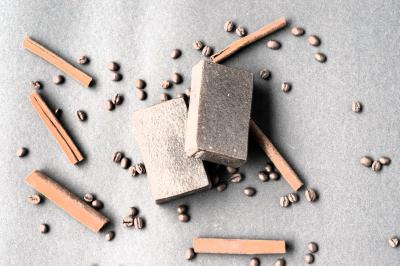 valloloko Kaffee Zimt Seife - Wake up and Cinnamon, 100 g