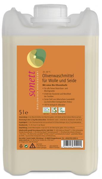 Sonett Olivenwaschmittel f. Wolle u. Seide 5 Liter