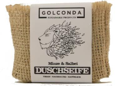 Golconda Duschseife Minze und Salbei, 65 g