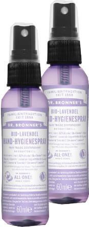 Dr Bronners Hygienespray Bio Hand Lavendel 60 ml 2er Pack