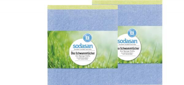 SODASAN Öko Schwammtücher 2er Pack