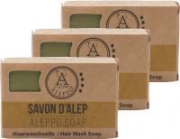ALEPEO Aleppo Haarwaschseife 7 Kostbarkeiten 100 g 3er Pack