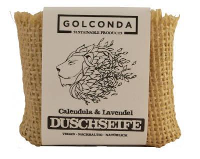 Golconda Duschseife Calendula und Lavendel, 65 g