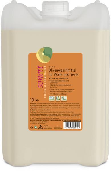 Sonett Olivenwaschmittel f. Wolle u. Seide 10 Liter