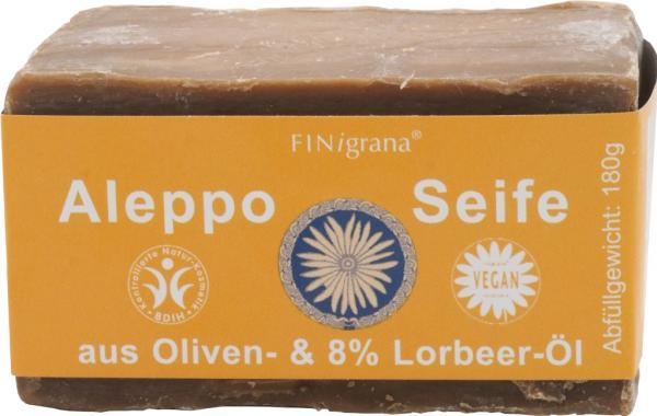 FINigrana Aleppo Olivenölseife mit 8 % Lorbeeröl 200 g