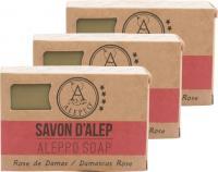 ALEPEO Aleppo Olivenölseife mit Rosenblütenduft 100 g 3er Pack